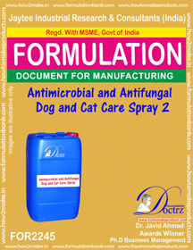 Pet Dog Cat Antimicrobial and anti-fungal Spray 2 (FOR 2245 )