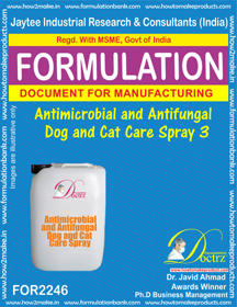 Pet Dog Cat Antimicrobial and anti-fungal Spray 3 (FOR 2246 )