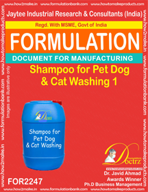 Shampoo Formula for Pet Dog & Cat washing 1 (FOR 2247 )