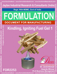 Kindling, Fire igniting Fuel Gel chemical Formula (FOR 2253)