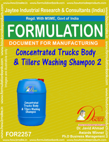 Concentrated truck Body & tillers washing shampoo 2(FOR 2257)