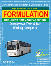 Concentrated Train and Bus Washing Shampoo-3 (FOR 2264)