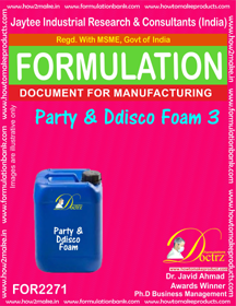 Party Disco Foam Formulation 3 (for2271)
