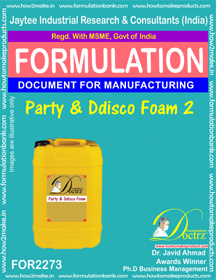 Party Disco Foam Formulation (for2273)
