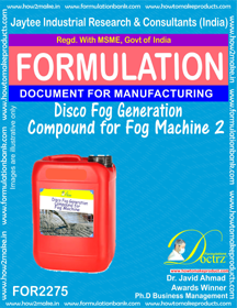 Disco Fog Generation Compound For Fog Machine 2 (for2275)