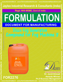 Disco Fog Generation Compound For Fog Machine 3 (for2276)