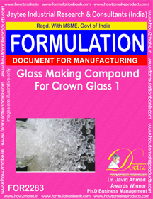 Glass Making Compound for Crown Glass 1 (for2283)