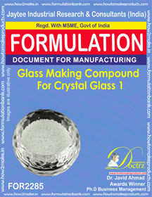 Glass Making Compound for Crystal Glass 1 (for2285)