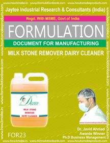 Milk Stone Remover Dairy Cleaner