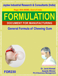 formula recipe general chewing gum making(formula 230)