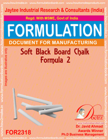 Soft Black-Board chalk formula-2 (For 2318)
