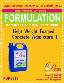 Light weight Foamed concrete admixture liquid-1 (FOR 2319)