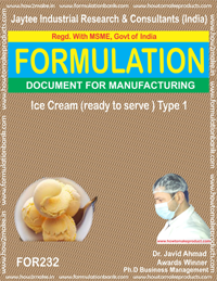 formula for ice-cream ready to serve making(formula 232)