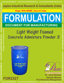 Light weight Foamed concrete admixture powder-3 (FOR 2327)
