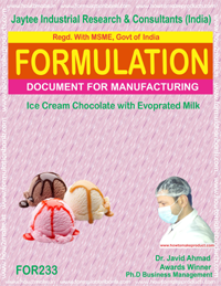 formula for ice-cream chocolate with evaporated milk making(233)