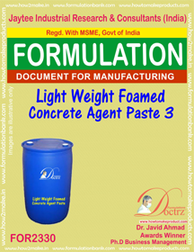 Light weight Foamed concrete agent paste-3 (FOR 2330)