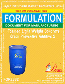 Light weight Foamed concrete Crack preventive agent-2 (FOR 2332)