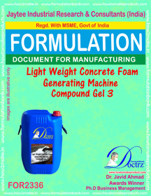 Lightweight concrete Foam Generator Machine Compound Gel-3