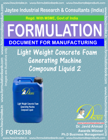 Lightweight concrete Foam Generator Machine Compound Liquid-2