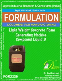 Lightweight concrete Foam Generator Machine Compound Liquid-3