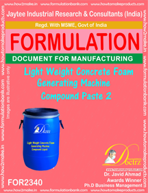 Lightweight concrete Foam Generator Machine Compound Paste-2