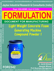 Lightweight concrete Foam Generator Machine Compound Powder-1