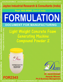 Lightweight concrete Foam Generator Machine Compound Powder-2