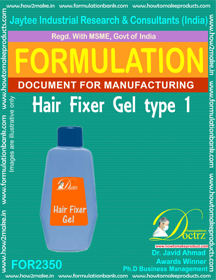 Formula of Hair Fixer Gel type-1 (FOR 2350)