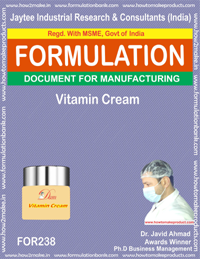 formula for vitamin cream making (formula 238)
