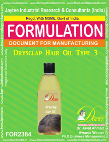 Hair Oil formula for Dry-Sclap type-3 (FOR 2384)