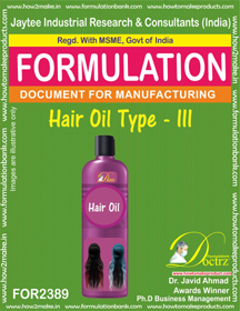 Hair Oil formula type-III (FOR 2389)