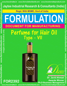 Formula of Perfume compound for Hair Oil type-7 (FOR 2392