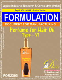 Formula of Perfume compound for Hair Oil type-6 (FOR 2393)
