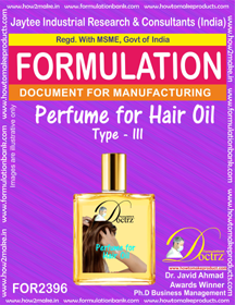 Formula of Perfume compound for Hair Oil type-3 (FOR 2396)