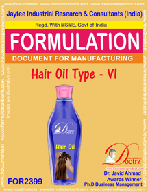 Formula of Hair Oil type-vi (FOR 2399)