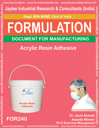 Acrylic Resin Adhesive Making