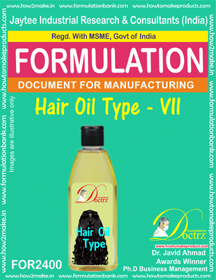Formula of Hair Oil type-vii (FOR 2400)