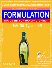 Formula of Hair Oil type-xii (FOR 2405)