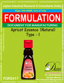 Perfume Apricot Essence Formulation (FOR 2417 )