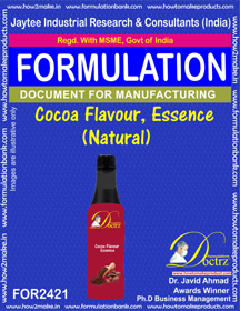 Cocoa Flavour, Essence (Natural) formula ( FOR2421 )