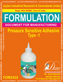 Pressure sensitive adhesive formula type-1 (FOR2433)