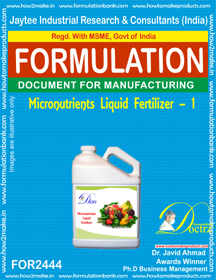 liquid Micro-Nutrient Fertilizer formula-1