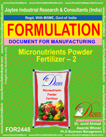 Micro-Nutrient Fertilizer Powder formula-2 (FOR 2448)