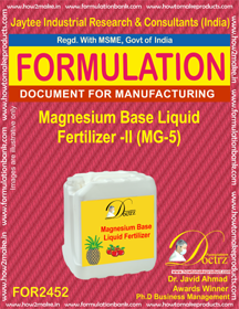 Magnesium Base Liquid Fertilizer-2 (MG-5) FOR 2452