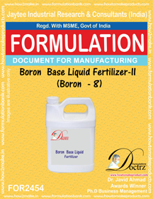 Boron Base Liquid Fertilizer-2 Boron-8 ( FOR 2454)