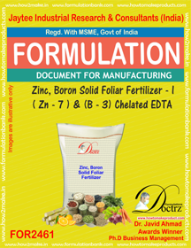Zinc-Boron SolidFoleir Fertilizer I Z-7 B-3 Chelatd EDTA FOR2461