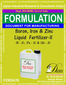 Boron, Iron & Zinc Liquid Fertilizer-II Formula (FOR 2476)