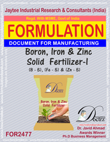 Boron, Iron & Zinc Solid Fertilizer-I Formula (FOR 2477)