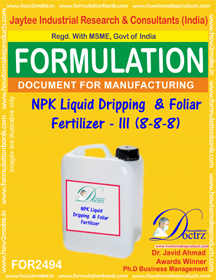 NPK Liquid Dripping & Foliar Fertilizer – III ( (FOR 2494)