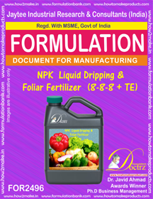 NPK Liquid Dripping & Foliar Fertilizer ( (FOR 2496)